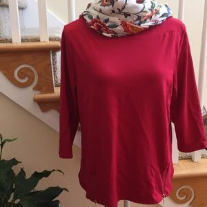 Chico's Red Boatneck Top